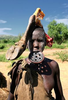 Mursi Tribe from Ethiopia. Wow.