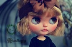 OOAK Custom Blythe Doll Face Up and Customized by ElfSecretForest