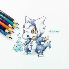 Pokémon - 104 Cubone [Marowak [Alolan Form] Cosplay] art by itsbirdy (Instagram)