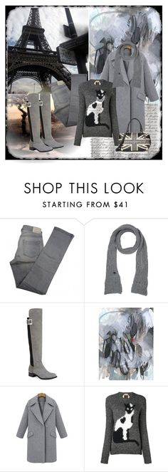 """Shades of Gray"" by deborah-518 ❤ liked on Polyvore featuring Comptoir Des Cotonniers, Armani Jeans, Calvin Klein and N°21"