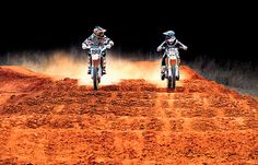 Travis Pastrana and Davi Millsaps have a staredown through the whoops