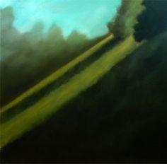 Les pentes des Buttes-Chaumont Huile sur toile, 100x100cm
