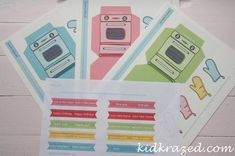 Retro Oven Printable Kit: Cutest cupcake holder in town! - Kid Krazed