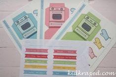Retro Oven Printable Kit: Cutest cupcake holder in town! - Kid Krazed