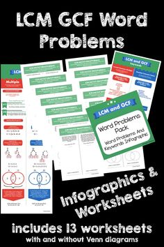 Finite math venn diagram practice problems math on my mind lcm gcf word problem worksheets and infographic venn diagramsword problems math ccuart Images