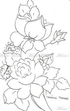 risco pintura em tecido                                                                                                                                                      Mais Stencil Patterns, Painting Patterns, Pattern Art, Quilt Patterns, Stencil Painting, Fabric Painting, Embroidery Flowers Pattern, Colouring Pages, Oeuvre D'art