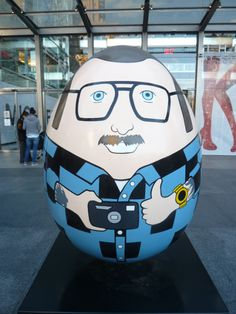 Egg #188 was designed by Terry Richardson, a self-portrait. As of this writing it was selling at auction for $800.