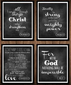 Scripture Quote Chalkboard Poster by ReaganistaDesigns on Etsy