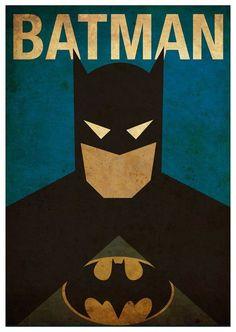 Vintage Minimalist Batman Poster Prints - Vintage Minimalist Poster Poster by MyGeekPosters on Etsy - Alphabet Poster, Abc Poster, Retro Poster, Vintage Posters, Poster Prints, Print Ads, Im Batman, Batman Art, Lego Batman