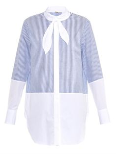 ADAM LIPPES Striped Cotton Shirt. #adamlippes #cloth #shirt