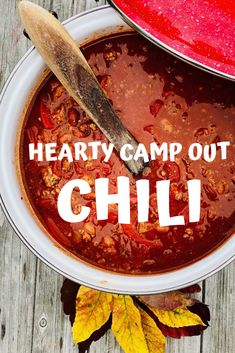 Hearty Camp Out Chili Spicy chili beans and fresh bell peppers give this meal a kick! It's sure to heat up your insides on your next cold-weather campout. Best Camping Meals, Camping Desserts, Camping Recipes, Spicy Chili, Foil Packets, No Bean Chili, Chili Recipes, Ground Beef, Cold Weather