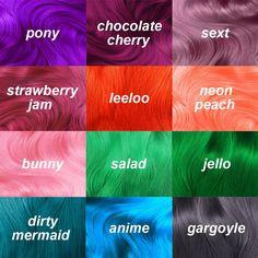 Lime Crime's Unicorn Hair Vegan Semi Permanent Hair Dye. https://www.limecrime.com/categories/unicorn-hair-semi-permanent-hair-colors?utf8=%E2%9C%93&sort=price_asc