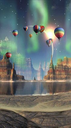 #OfficialGifs #Minds #Gifs #Art | Minds Gifs, Animation, Hot Air Balloon, Mystic, Balloons, Fantasy, Painting, Art, Imagenes De Amor