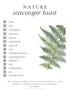 Enjoying the Outdoors (Free Nature Scavenger Hunt Printable) Discover the benefits of being in nature and how to have fun with it!