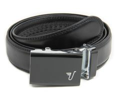 Vader Black 35 mm no holes adjustable belt from Mission Belt Co