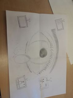 Dit is mijn schets van mijn tekenning. Ik ben van plan om televisies te maken en daarin kranten plaatjes te plakken. Ik doe dit omdat dat er veel slechte dingen zijn, zoals trumps macht en oorlogen