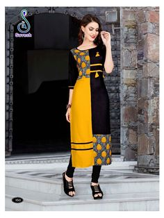 Suvesh Natasha Vol 11 Kurti Wholesale Catalog 8 Pcs Simple Kurti Designs, Stylish Dress Designs, Designs For Dresses, Kurta Designs, Stylish Dresses, Blouse Designs, Kurti Sleeves Design, Kurta Neck Design, Kurta Patterns