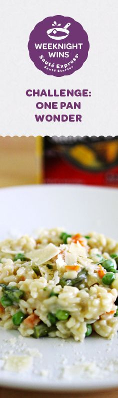 Visit my blog for a chance to win a Sauté Express® Sauté Starter prize pack and see my recipe for Springtime Risotto.
