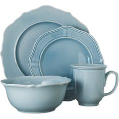 Threshold 16 Piece Wellsbridge Dinnerware Set - Aqua, Blue ($60) ❤ liked on Polyvore featuring home, kitchen & dining, dinnerware, kitchen, dishes, blue, threshold dinnerware set, aqua dishes, blue cereal bowl and blue dinner plates