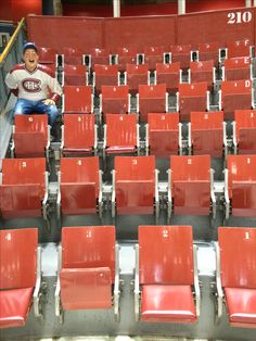 Section 210 remains intact inside the Forum. #montreal #quebec #canada #canadiens #habs #nhl #hockey #travel