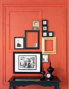 Oranje muur met zwar