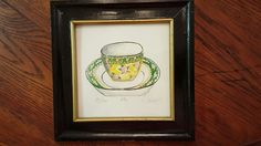 Vintage K. Spicher Tea Cup print - signed and numbered! by CnWsTexasTreasures on Etsy