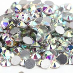 Free Shipping! 1440pcs/Lot, ss3 (1.3-1.5mm) Crystal AB /Clear AB Flat Back ( Nail Art ) Non Hot Fix Glue on Glass Rhinestones