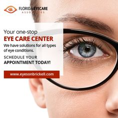 Beautiful Eyes Pics, Eye Care Center, Brickell Miami, Types Of Eyes, Eye Exam, Healthy Eyes, Eye Doctor, Optometry, Marketing Program