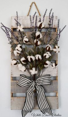 Superb Cotton and Lavender Wall Decor Farmhouse by WhiteDoorStudios The post Cotton and Lavender Wall Decor Farmhouse by WhiteDoorStudios… appeared first on Feste Home Decor .