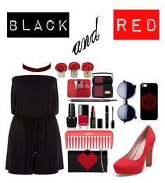 """black and red"" by bellehartford ❤ liked on Polyvore featuring Casetify, New Look, Gorgeous Cosmetics, Chanel, OPI, Marc Jacobs, Gucci, Morphe, Lancôme and River Island"