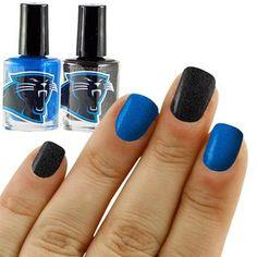 Carolina Panthers Panther Blue-Black 2-Pack Nail Polish
