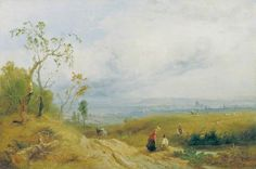 A Peep at the Metropolis from Hampstead Heath, London By James Baker Pyne