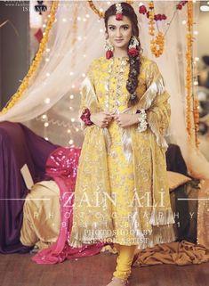 Pakistani Mehndi Dress, Bridal Mehndi Dresses, Mehendi Outfits, Pakistani Wedding Outfits, Wedding Dresses For Girls, Pakistani Wedding Dresses, Pakistani Dress Design, Bridal Outfits, Bridal Gowns