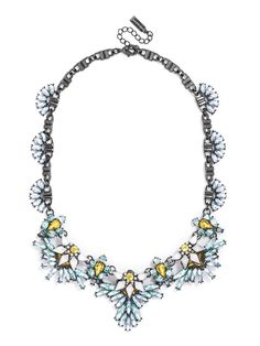 Ordered A feminine, floral statement evokes fairy wings with delicately feathered stone work. http://www.baublebar.com/titania-gem-collar-necklace.html
