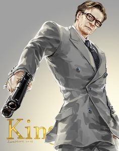Keep calm and love Colin Firth #Kingsman ・・・らくがき