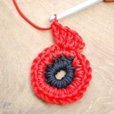Crochet Stitches For Beginners crochet - Get those hooks out. here's a free Remembrance Poppy Crochet Pattern. Crochet Butterfly Free Pattern, Crochet Coaster Pattern, Crochet Flower Tutorial, Crochet Flower Patterns, Crochet Ideas, Crochet Crafts, Crochet Projects, Yarn Crafts, Diy Projects