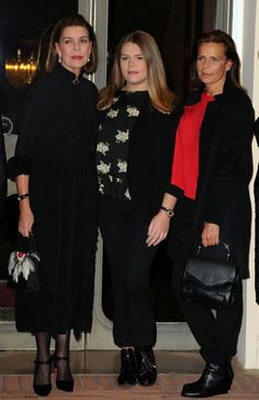 """Official screening of the movie """"The Country Girl"""", tribute to Princess Grace. Andrea Casiraghi, Charlotte Casiraghi, Albert Von Monaco, Prince Albert Of Monaco, Camille Gottlieb, Patricia Kelly, Princess Grace Kelly, Caroline Kennedy, Royal Families"""