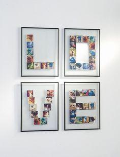 DIY Foto Idee - Dekoration mit Fotos und Bilderrahmen