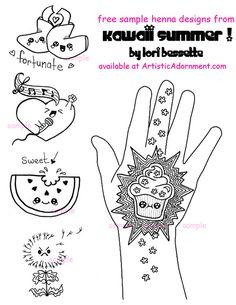 Kawaii Summer - Lori Bessette - $10.00 : Artistic Adornment, Henna Supplies - henna tattoo kits, henna powder, professional mehndi supplies✖️HAIR AND BEAUTY  :  HENNA SUPPLIES   / حنا / MEHNDI SUPPLIES /   حِنَّاء   ✖️FOSTERGINGER AT PINTEREST ✖️
