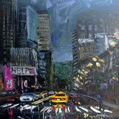 Seattle artist Arlon Rosenoff Fine Art - Dusk on First
