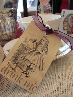 Drink Me Tag for Alice in Wonderland Tea Party