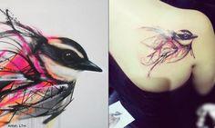 tatouage Hirondelle Graphique