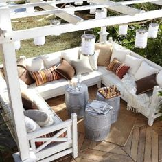 Outdoor lounge area - perfect for a summer read