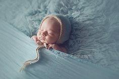 Newborn Boy Baby Boy Bonnet Blue and Tan Two Tone Bonnet by goodnightmouse on Etsy, $32.00