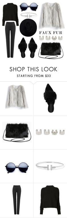 """""""Faux Fur Coats"""" by eva-jez ❤ liked on Polyvore featuring Chicwish, Sanayi 313, Torrid, Maison Margiela, Tiffany & Co., Boutique Moschino, Victoria Beckham and fauxfurcoats"""
