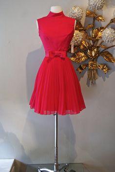 Vintage 60s Dress / 1960's Hot Pink Ultra Mod Mad by xtabayvintage, $198.00