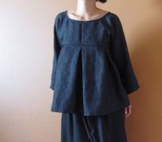 pure linen kimono dolly top custom order by annyschooecoclothing