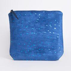 Handmade Environmentally Friendly Vegan Blue Confetti Clutch