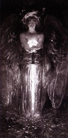 """""""The Angel with the Flaming Sword"""" by Edwin Howland Blashfield (1893)"""