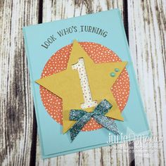 64 Trendy Baby First Birthday Card Stampin Up Birthday Cards For Boys, Bday Cards, Handmade Birthday Cards, Diy Birthday, Birthday Card Design, Kids Cards, Homemade Cards, Stampin Up Cards, Making Ideas